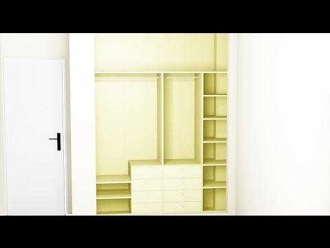 Cómo distribuir el interior de un armario empotrado? - Cocicasas ...